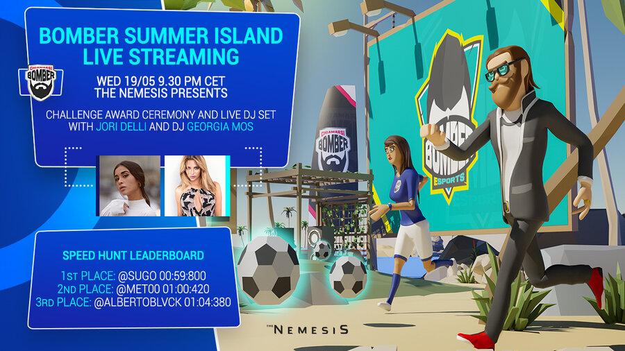 Jori Delli to host live streaming event at Chiamarsi Bomber virtual island on The Nemesis