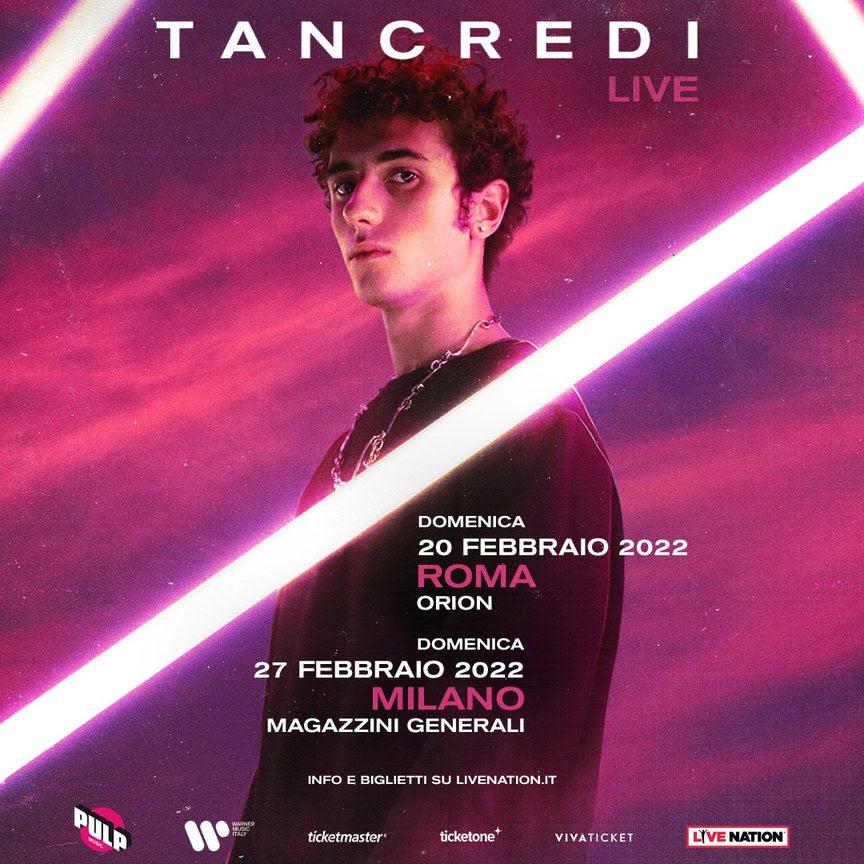 La rivelazione di AMICI 20 TANCREDI dal vivo in concerto a ROMA e MILANO