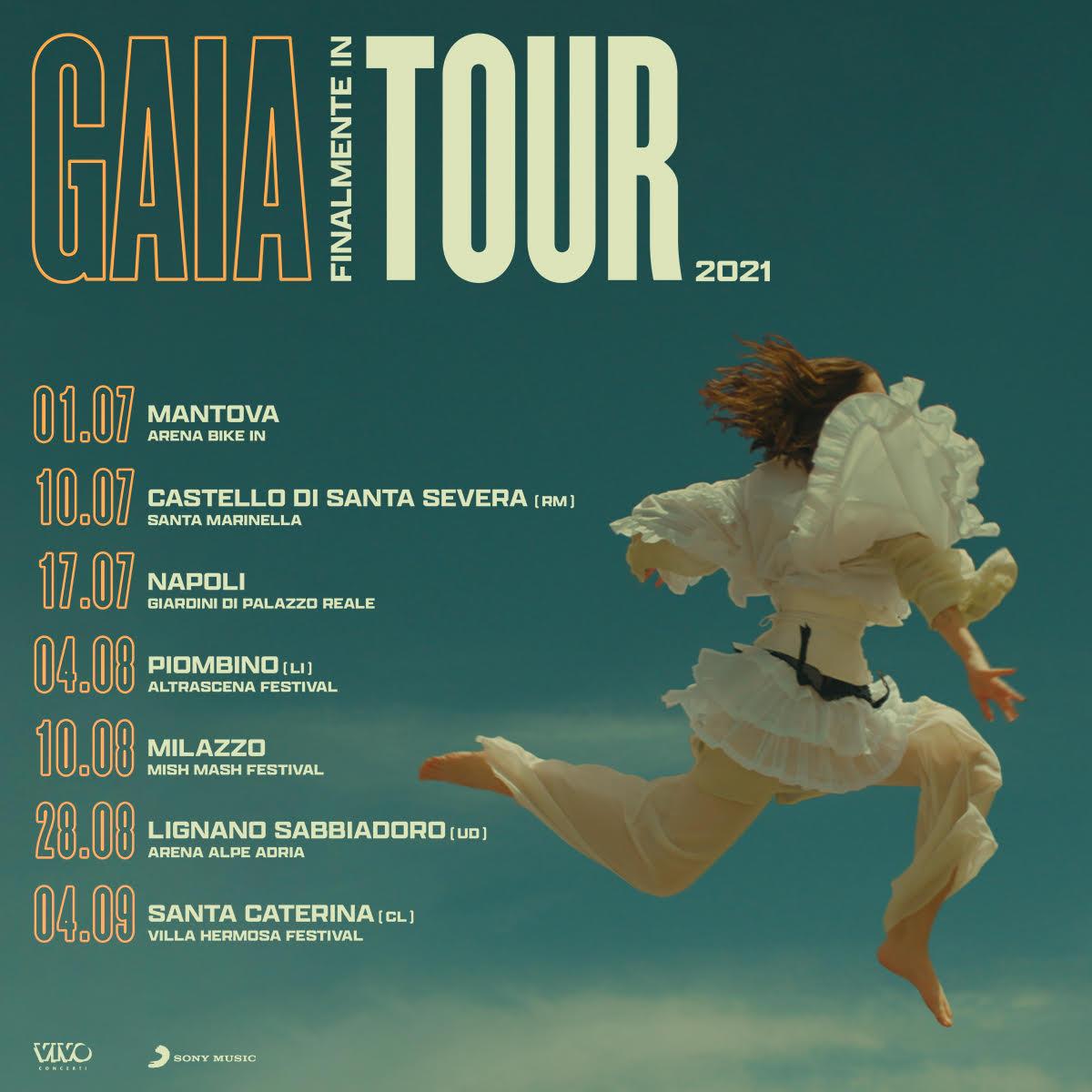GAIA / Finalmente in TOUR - Annunciate le date per l'estate 2021