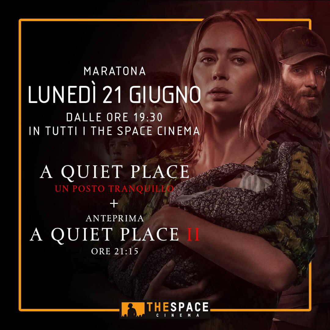 MARATONA CON ANTEPRIMA 'A QUIET PLACE'  NELLE SALE THE SPACE CINEMA