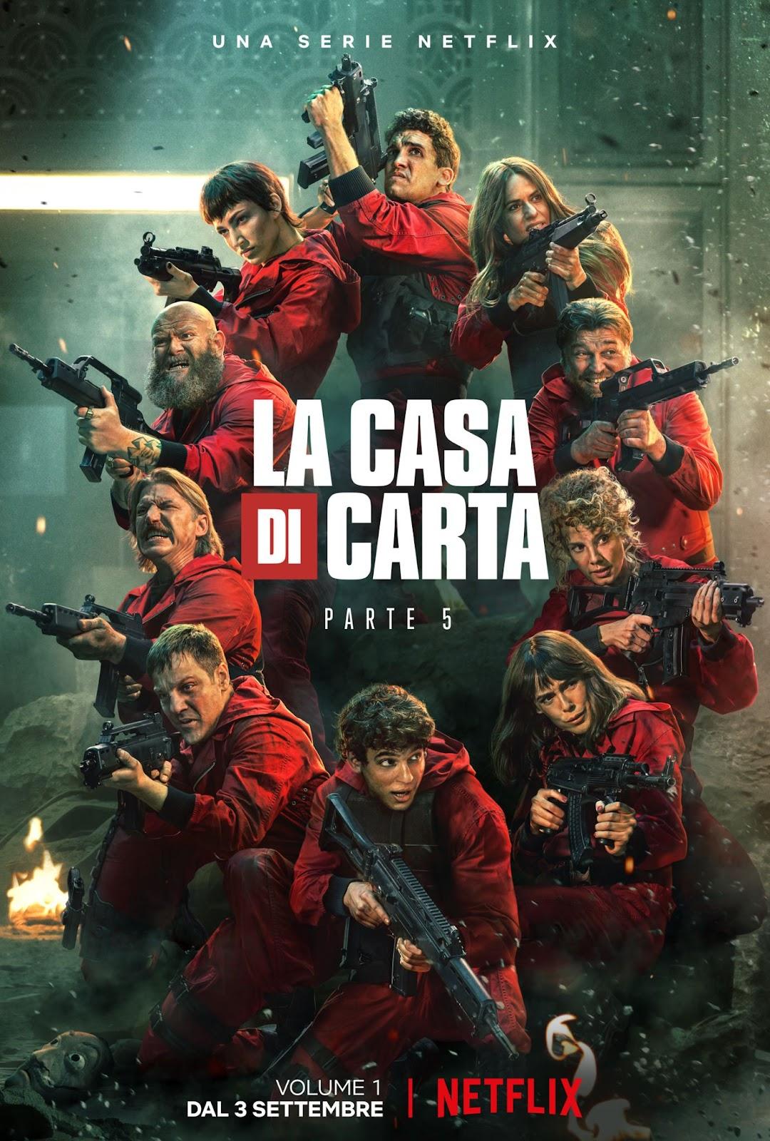 NETFLIX - LA CASA DI CARTA PARTE 5, il trailer e la locandina