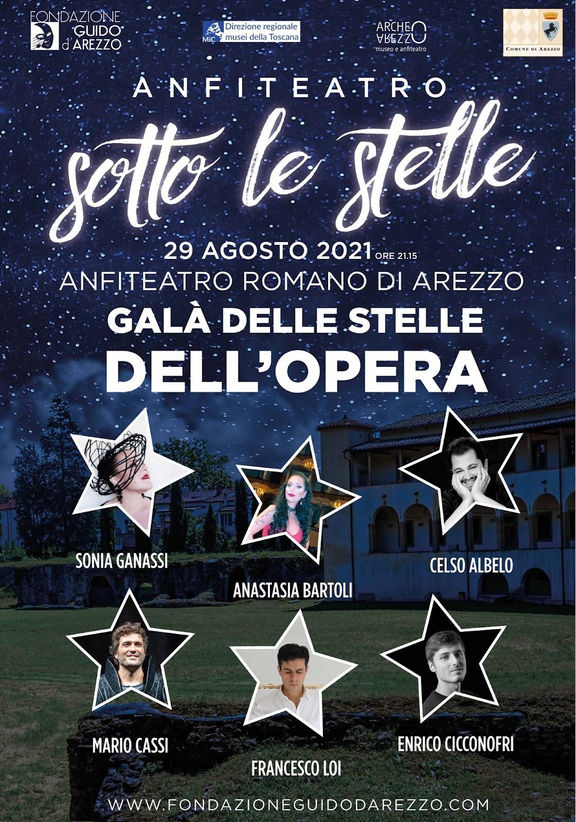 Galà delle stelle dell'Opera, appuntamento il 29 agosto all'anfiteatro romano di Arezzo