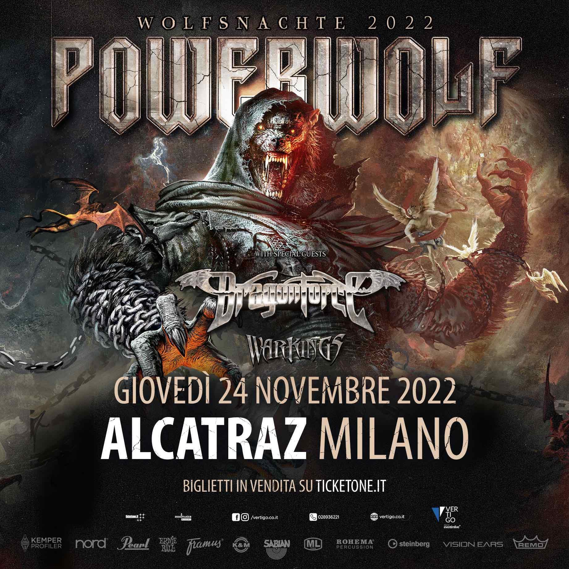 POWERWOLF: posticipata al 2022 la data di Milano e aggiunti DRAGONFORCE e WARKINGS