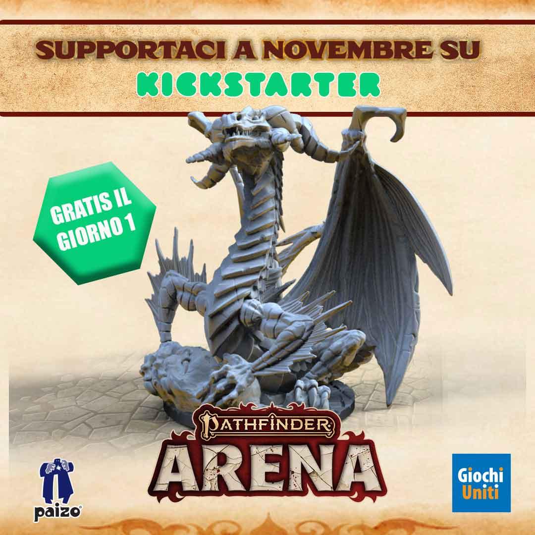 Giochi Uniti - Pathfinder Arena arriva su Kickstarter a Novembre