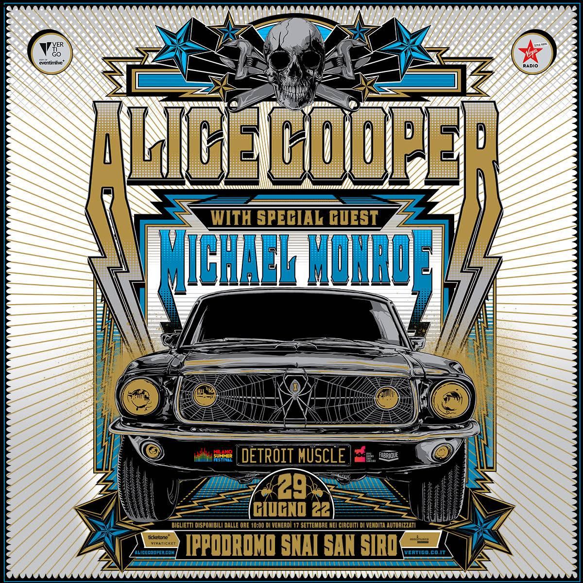 ALICE COOPER: dal vivo in Italia per un'unica data!
