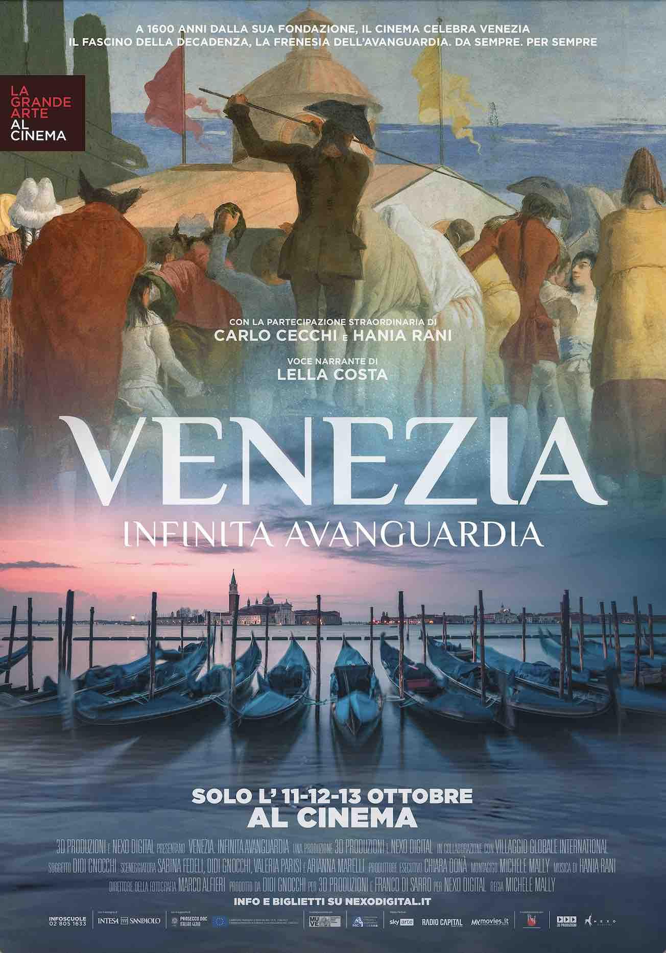 """""""VENEZIA. INFINITA AVANGUARDIA"""" L'EVENTO AL CINEMA. Nelle sale italiane solo l'11, 12 e 13 ottobre"""