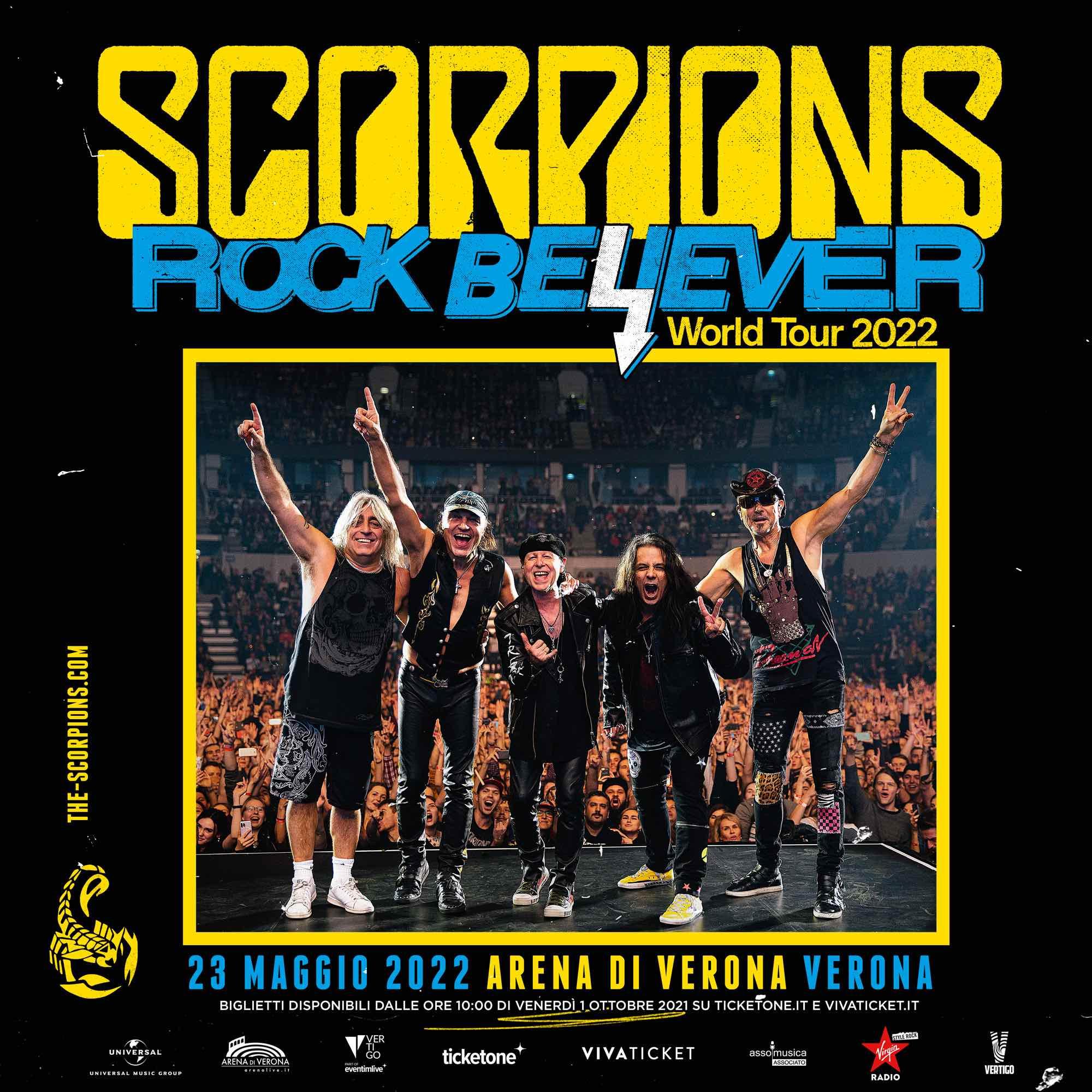 SCORPIONS tornano dal vivo in Italia per un'unica data evento all'Arena di Verona!
