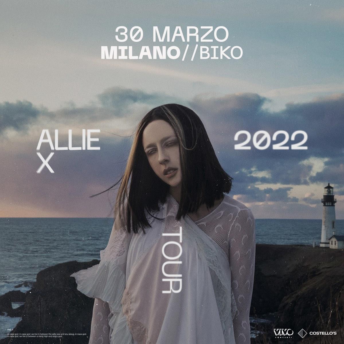 ALLIE X ANNUNCIA IL SUO CONCERTO A MILANO - 30 MARZO 2022 BIKO