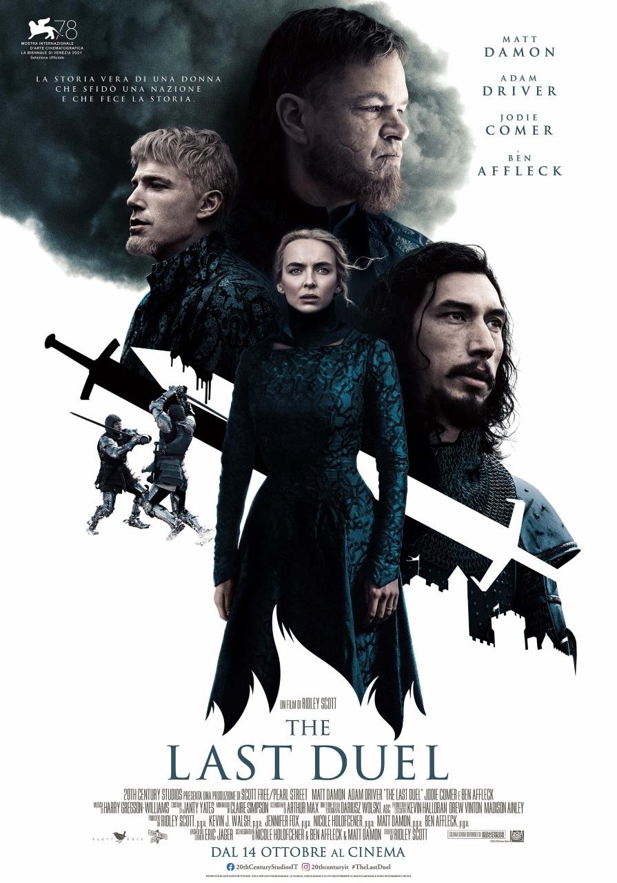 THE LAST DUEL - Di Ridley Scott arriverà il 14 ottobre nelle sale italiane