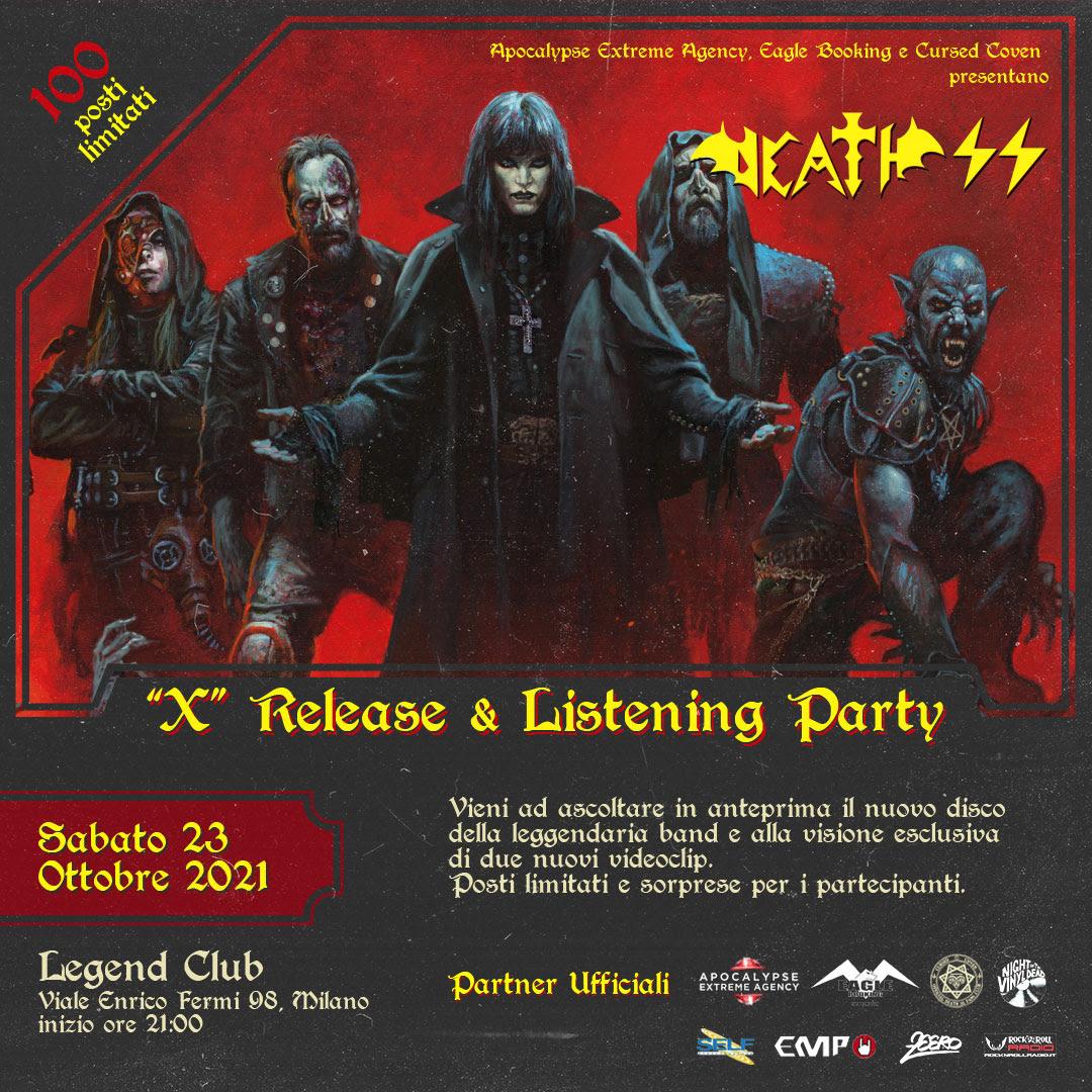 DEATH SS - uno speciale release party per il nuovo album
