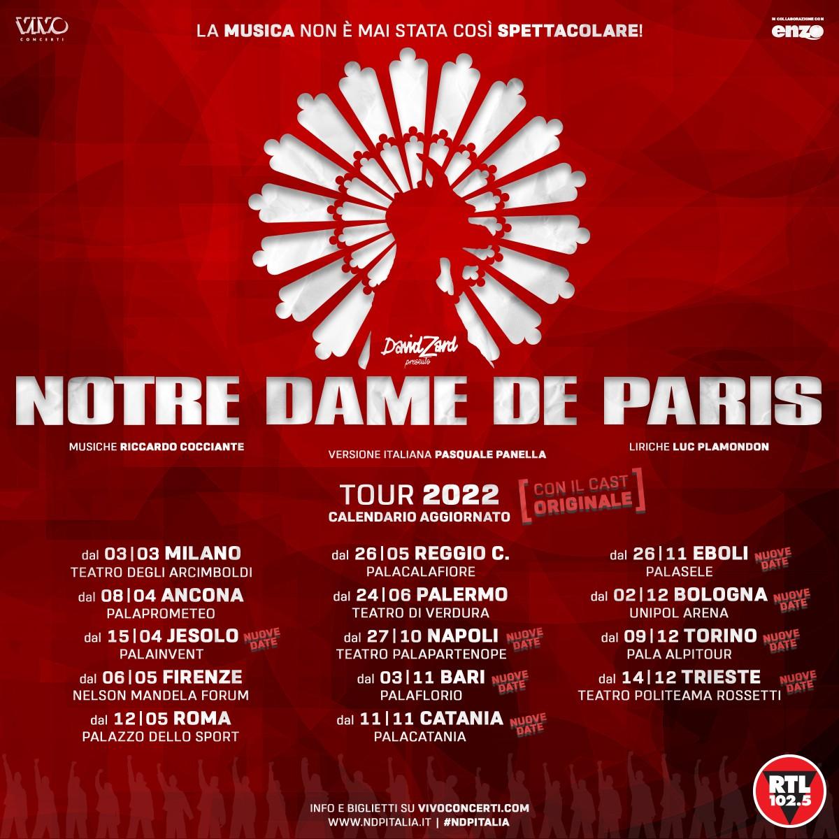 NOTRE DAME DE PARIS - RIPROGRAMMATE NEL 2022 LE DATE DEL 2021