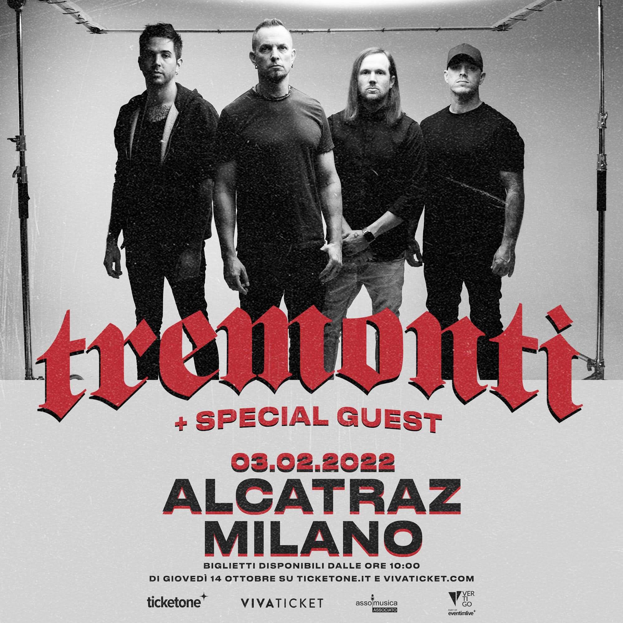TREMONTI: una data a Milano nel 2022!