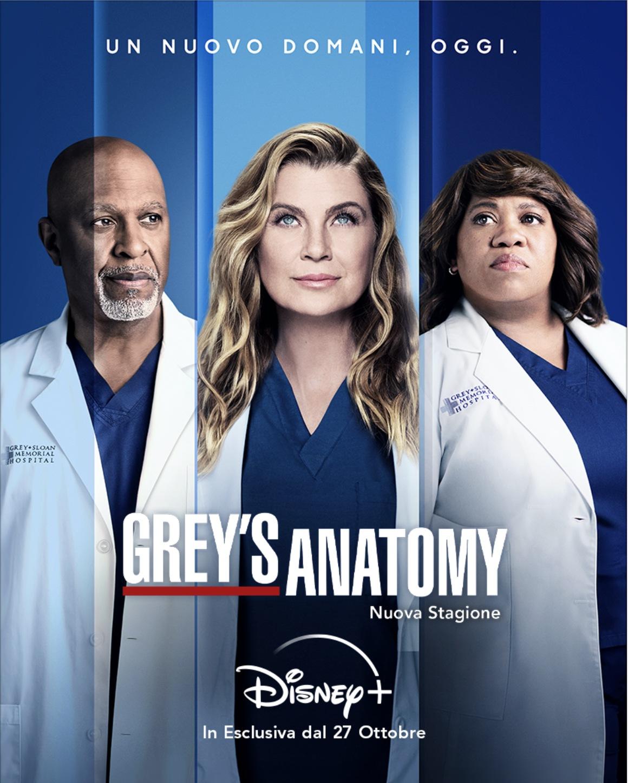 DISNEY+   Arriva Grey's Anatomy Dal 27 ottobre con la 18ª stagione