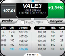 Livro de ofertas de VALE3