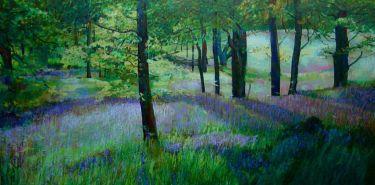 Port Appin Studio textile art: Bluebell Wood