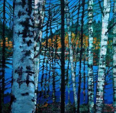 Port Appin Studio textile art: FINNISH BIRCHES