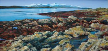 Port Appin Studio textile art: Appin Rocks
