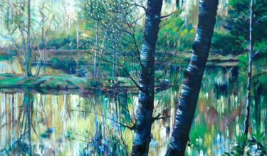 Port Appin Studio textile art: Glencoe Lochan