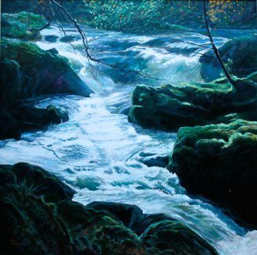 Port Appin Studio textile art: Glen Dubh Stream