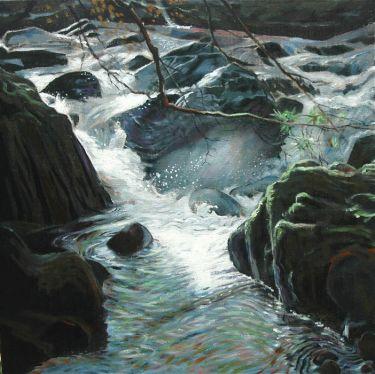 Port Appin Studio textile art: Glen Dubh Falls