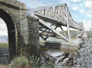 Port Appin Studio textile art: Connel Bridge
