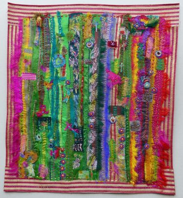 Port Appin Studio textile art: Hot Stuff