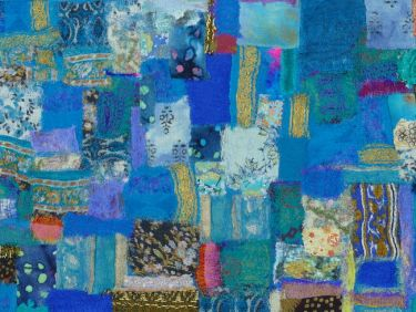 Port Appin Studio textile art: Out of the Blue
