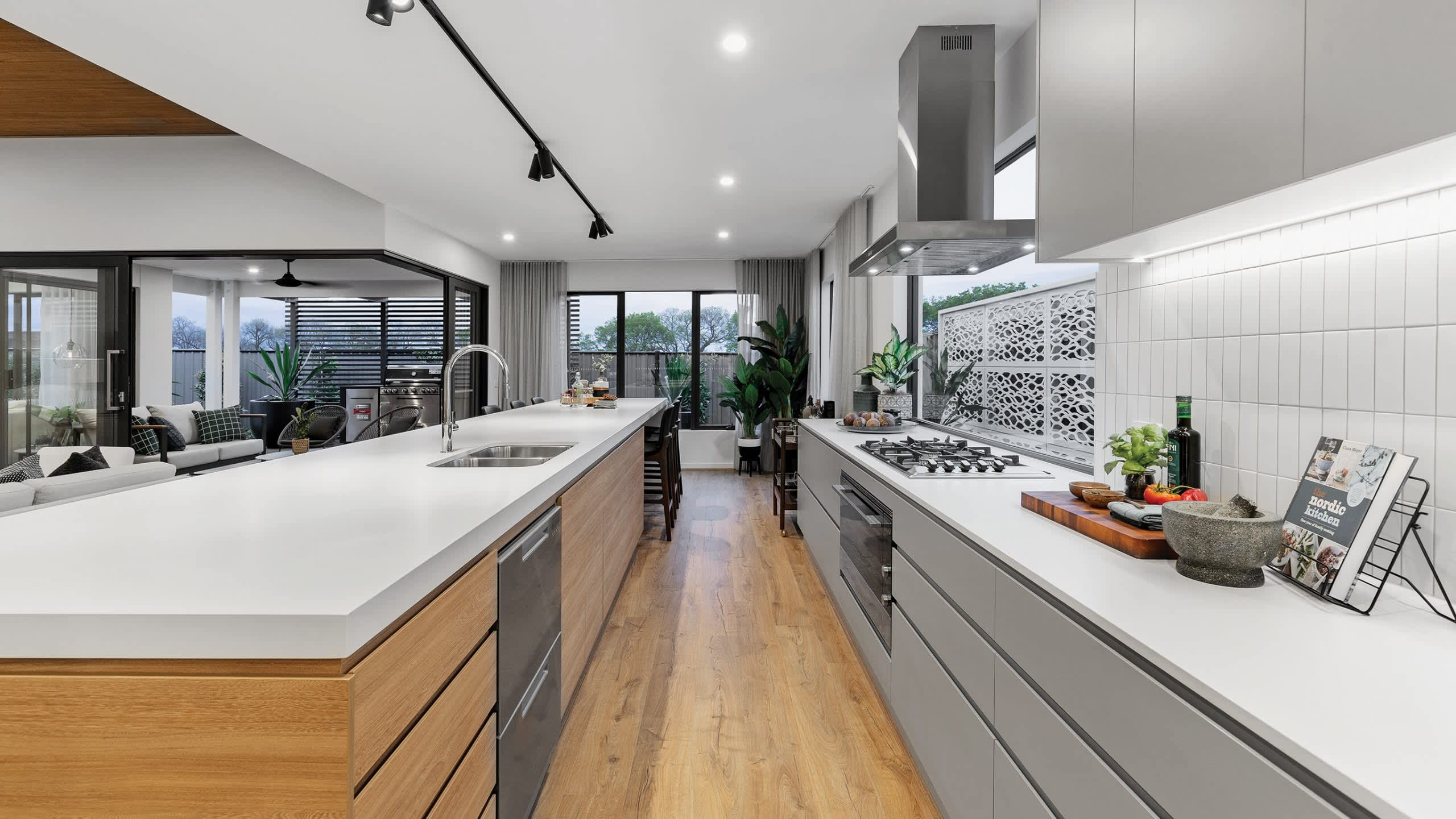 How to work with a galley kitchen design