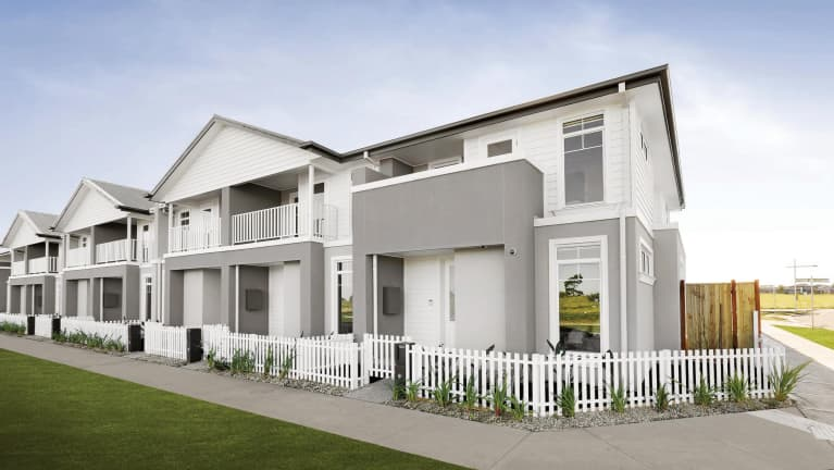 Our Hamptons townhome facade reveal! A first look…