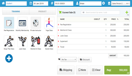Online Point of Sale Software for Gym Membership | Deal - Cloud POS