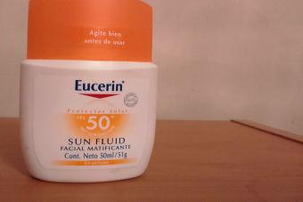 Review  : Sun Fluid Facial Matificante de Eucerin