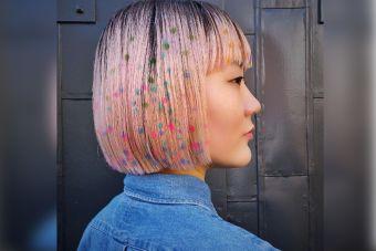 Tendencia: hair stenciling