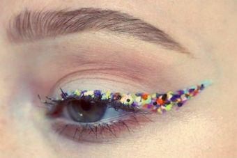 Tendencias: Confetti-Eyeliner