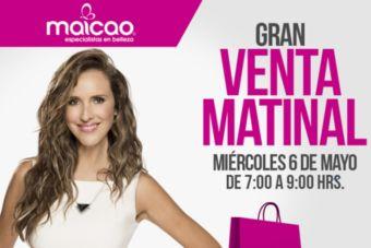 Gran Venta Matinal Maicao: ¡hasta 30% de descuento en maquillaje!