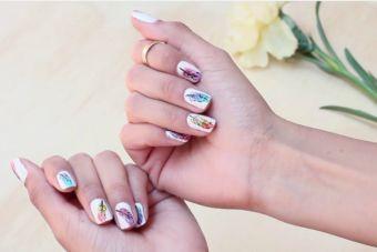 Plumas para uñas bellas y coloridas