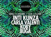 Carla valenti, Inti kunza, Buga y Koby en Club Mamba