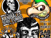 Los Kanibales Suf Combo, Surfin Caramba y Cocodrilos Rockers en Bar Santa Filomena