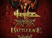 Homicide, Ripper, Battlerage y Degotten en Bar Óxido