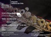Temporada de Cámara 2015 Orquesta Sinfónica de Chile, Centro Gam
