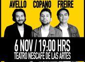 "Felipe Avello, Fabrizio Copano y Sergio Freire presentan ""SERIOS"""