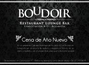 Cena-Fiesta Año nuevo 2013 en Boudoir