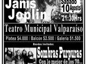 Hippie Fest con Kozmic Blues, Sombras Púrpuras y Strange Days en Teatro Municipal de Valparaíso