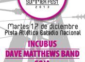 Santiago Summer Fest, Pista Atlética Estadio Nacional