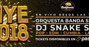 New Year 2018 ★ Gold Night at California Cantina