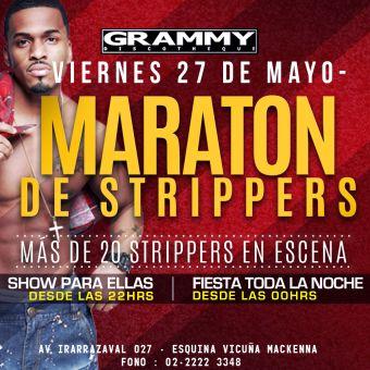 Maratón de Strippers en Grammy Discotheque