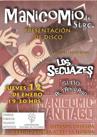 PLanzamiento disco Manicomio de Santiago