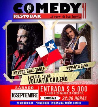 Especial 18ero Volantin Chileno stand up comedy + música
