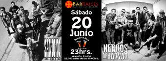 Sandino Rockers y Negros de Harvar en Bar Raices