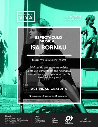 Presentación musical: Isa Bornau