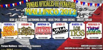 Fondas Oficiales de Peñaflor Mallinco 2012 - 14 al 19 de Septiembre